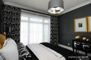 effect picture of contemporary style bedroom curtains
