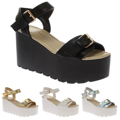 Moda Mio Gold Shoes New With Box flatform cleated sole womens strappy summer