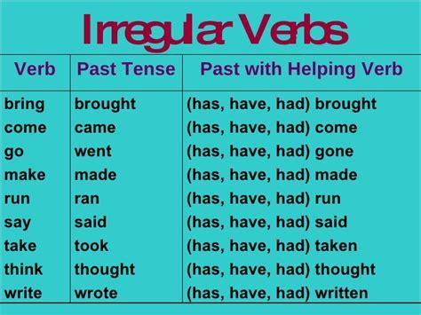 verb pattern dare regular and irregular verbs