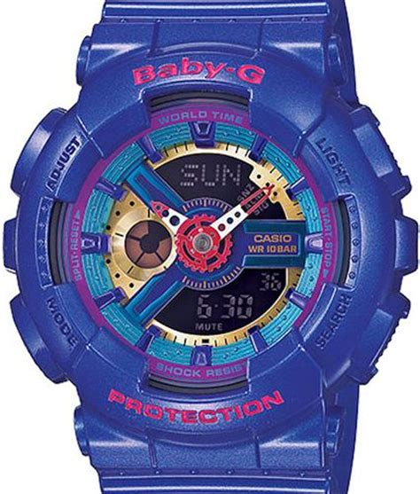 Baby G Casio Dg 120 Blue casio baby g wrist watches baby g blue ba112 2acr