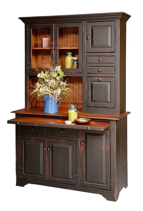Kitchen Hutch Cabinets Primitive Hoosier Hutch Kitchen Cabinet Country Furniture Step Back C