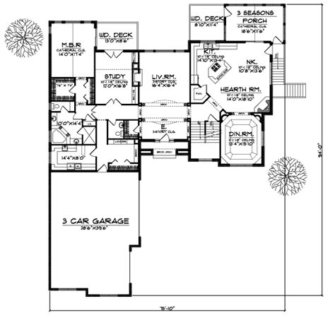 3800 Sq Ft House Plans Luxury Style House Plans 3800 Square Foot Home 2 Story 4 Bedroom And 3 Bath 3 Garage