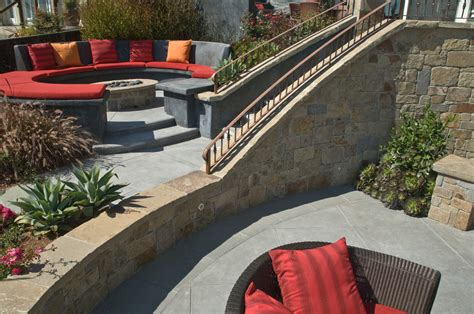 Modern Outdoor Pit Modern Pit With Koi Pond L Andscape Midcentury And