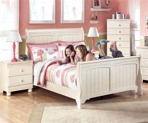 full size sleigh bedroom sets ashley furniture cottage retreat full sleigh bed kids