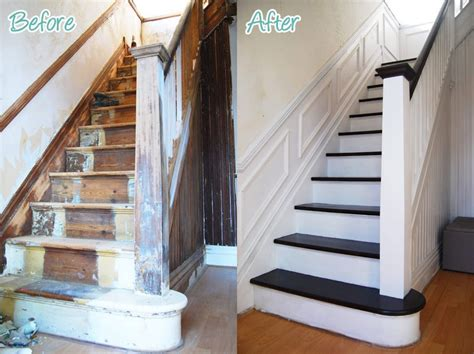 1930s banister diy duel staircase restoration it s done little