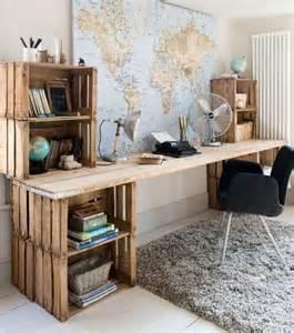 photo une bureau en palettes en bois