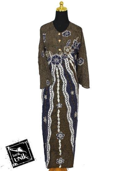Daster Longdress baju batik longdress santhung motif bunga putri malu