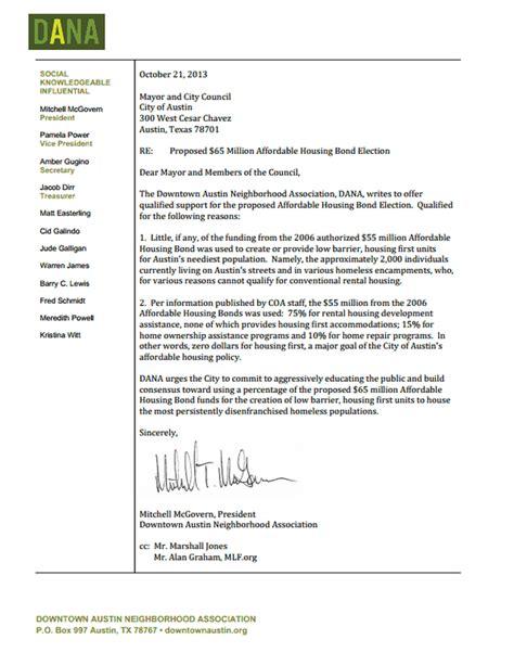 Letter Of Support For Affordable Housing database error