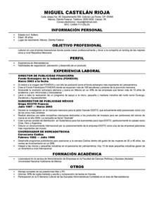 Plantilla De Curriculum En Ingles Dise 241 Os De Curriculum Vitae Plantilla De Curriculum En Ingl 233 S