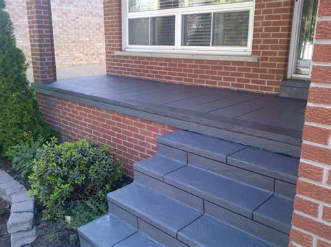 Concrete Porch Steps Concrete Floor exterior heavenly small front porch decoration using brown brick front porch wall including