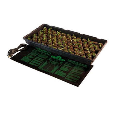 hydrofarm mt10009 107w seedling heat mat 48x20 in