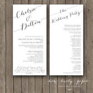 printable wedding program the collection