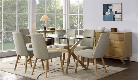 scandi glass top dining table sofa concept