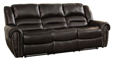 The Best Reclining Sofa Reviews Rotunda Black Faux Black Reclining Leather Sofa