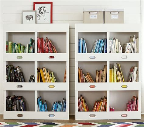 pottery barn kids bookcase cameron library cubby bookcase pottery barn kids