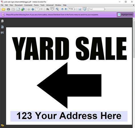 Editable Yard Sale Sign Freebies Dream A Little Bigger Sale Signs Templates Free