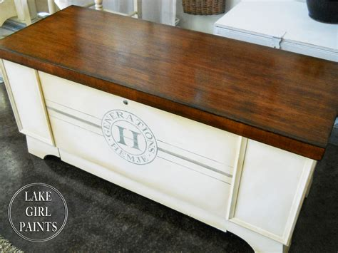 Staining Furniture by Lake Paints Generations Cedar Chest Painted And