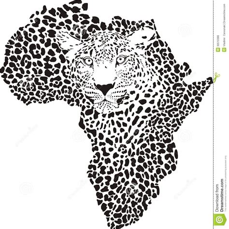 tattoo camo in south africa symbol africa in leopard camouflage royalty free stock