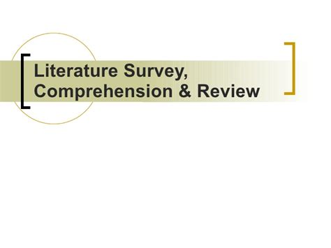 Literature Review On Promotional Activities by The Literature Review