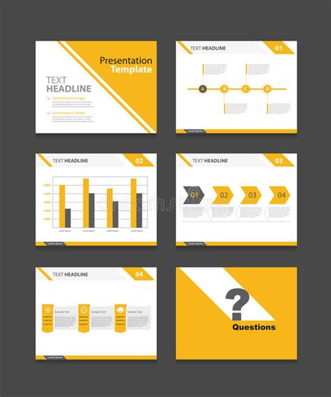 Corporate Business Presentation Template Set Powerpoint Template Design Backgrounds Stock Vector Set Powerpoint Template