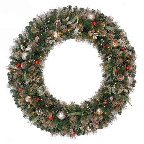 48 in battery operated roosevelt artificial wreath