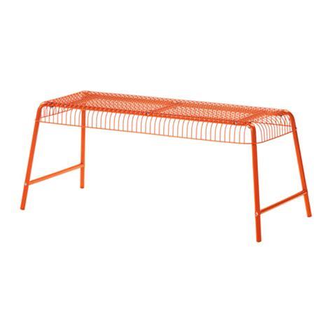 bench orange v 196 ster 214 n bench in outdoor orange ikea