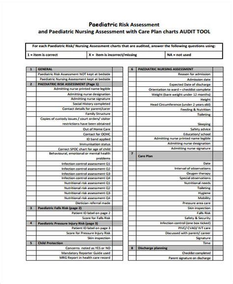 nursing assessment forms nursing assessment form in pdf