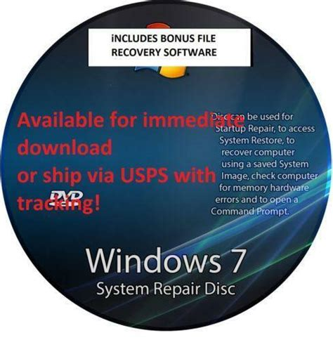windows  recovery disk ebay