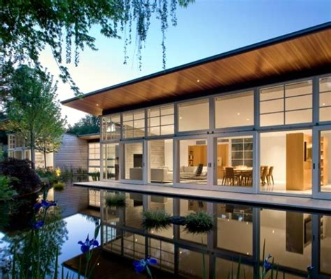 Garage Door Designs california passive house with garden and loft interior