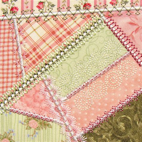 Patchwork Embroidery - decorative embroidery stitches quilting