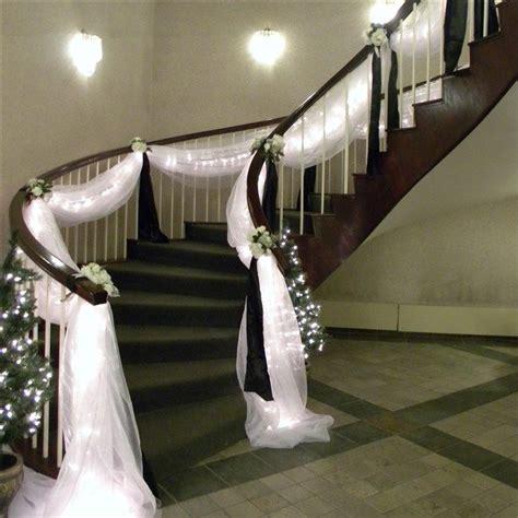 wedding staircase decoration on wedding