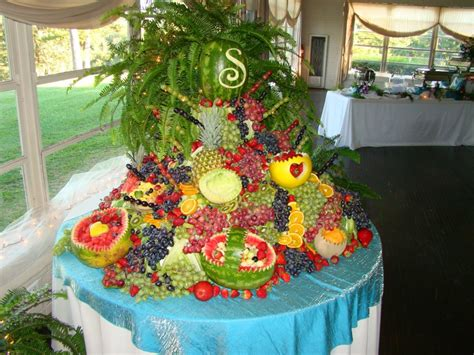 fruit table at a friend s wedding awesome wedding