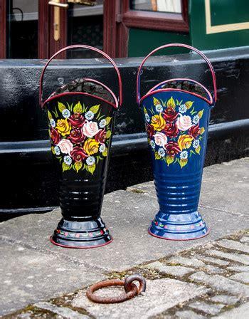 daintree hand painted narrowboat coal hod or umbrella - Narrow Boat Umbrella Holder
