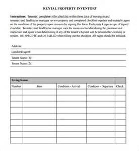 rental inventory checklist template sle inventory checklist 10 documents in word excel pdf