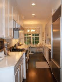 White Galley Kitchen Designs And Function In A Galley Kitchen Decor Advisor