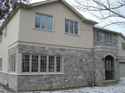 Exterior Home Design Exles Port Credit Mississauga Complete House Stucco And