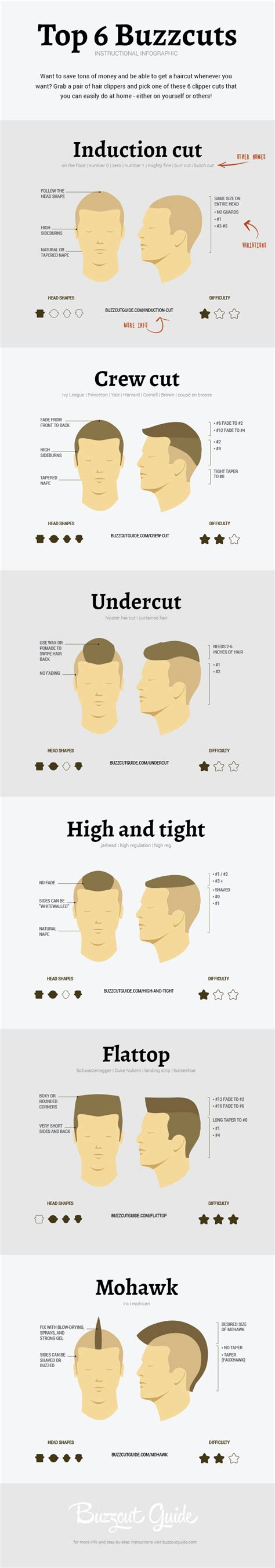 different sizes of razors for haircuts infografic tunsori fistichii atelierul de tuns