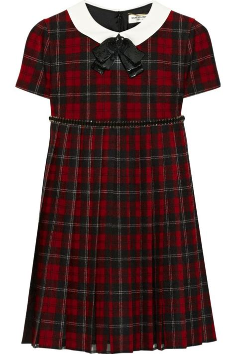 1176 Dress Promo Pin 2b2c8dc7 laurent embellished plaid wool dress with ankle