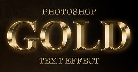font photoshop create a gold text effect in photoshop cc and cs6