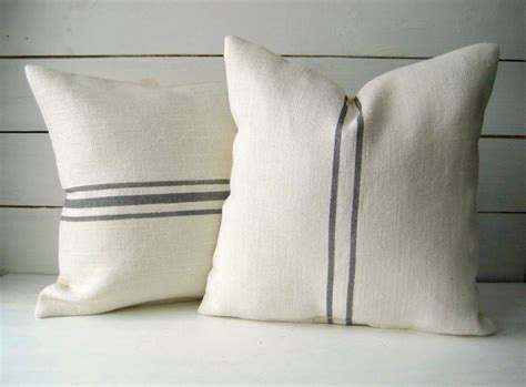 Burlap Pillow by Burlap Pillow Set Grainsack Throw Cottage Chic Pillow