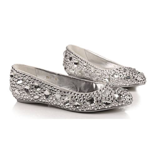 comfortable silver wedding shoes comfortable flats silver crystal shoes from creativesugar