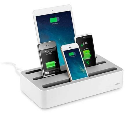 charging station anker 5 device charging station gadgetsin