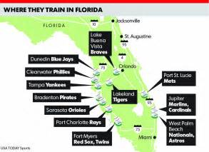 mlb florida map mlb announces reporting dates