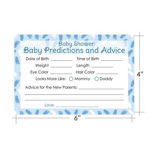 baby boy shower shower advice card 5 25x8 plaid blue boy baby shower game baby advice and prediction cards