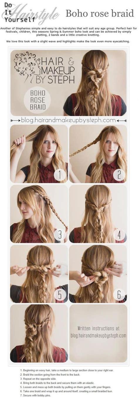 Easy Boho Hairstyles by Diy Easy Hairstyle Boho Braid