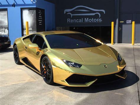 Golden Lamborghini Gold Chrome Lamborghini Huracan