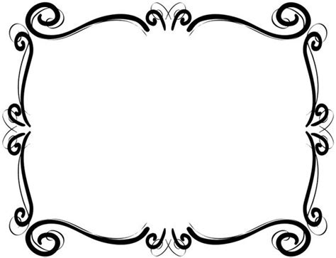 Free Scroll Border Clipart free clip borders scroll cliparts and others