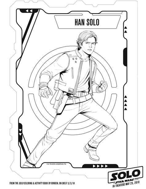 star wars han solo coloring page free solo a star wars story coloring sheets kids