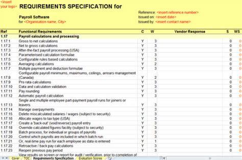 Payroll Software Rfi Rfp Template Payroll Processing Checklist Template