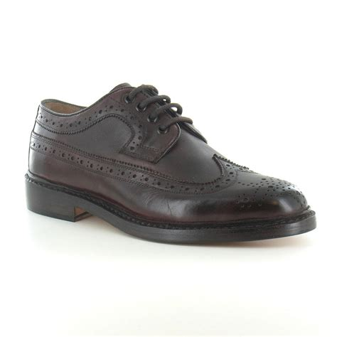 paolo vandini george mens premium leather brogue 4 eyelet